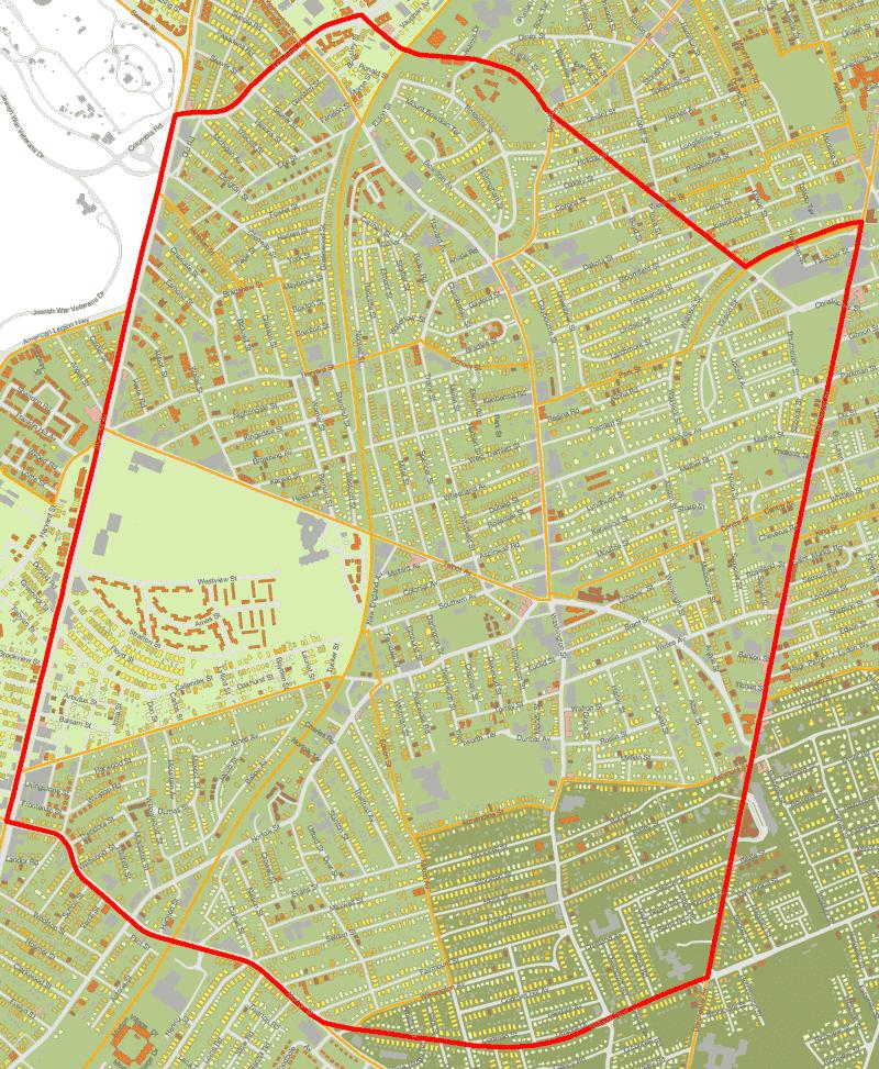 CSNDC Service Area Map