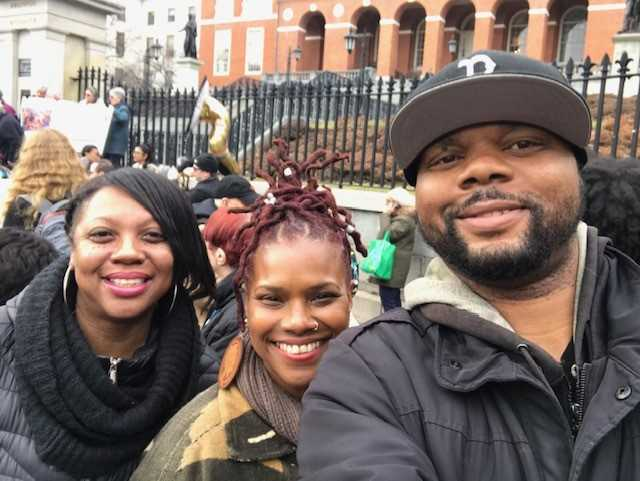 CSNDC Staff and Keeping Codman Affordable Members at State House Rally