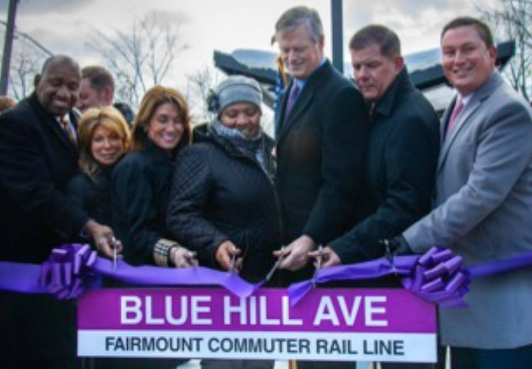 Blue Hill Ave ribbon cutting