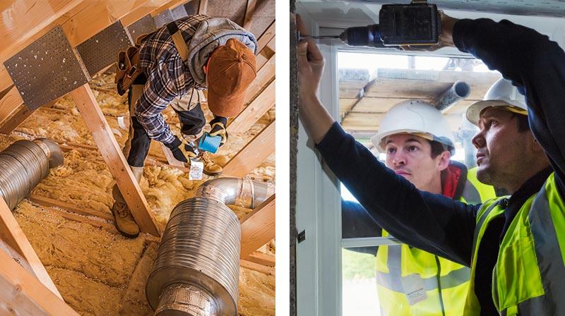 energy efficiency installations - pipeline insulation, windows